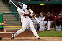 Luke Voit (30) of the Missouri State Bears during a game vs. the Western Illinois Leathernecks at Hammons Field in Springfield, Missouri;  March 18, 2011.  Photo By David Welker/Four Seam Images