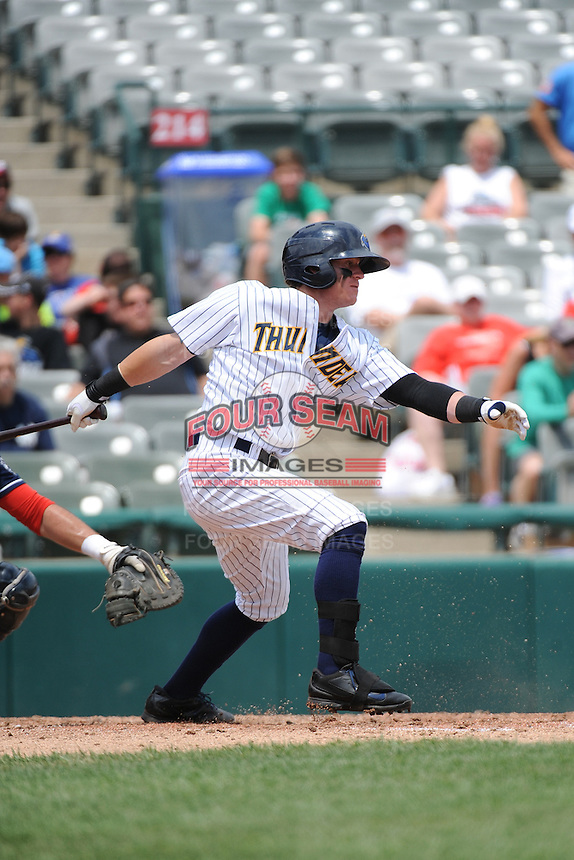 Trenton Thunder outfielder Ben Gamel (8) during game against the New Hampshire Fisher Cats at ARM & HAMMER Park on June 22, 2014 in Trenton, NJ.  New Hampshire defeated Trenton 7-2.  (Tomasso DeRosa/Four Seam Images)