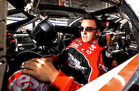 Sept 19, 2008; Dover, DE, USA; NASCAR Camping World Series East driver Austin Dillon during qualifying prior to the Sunoco 150 at Dover International Speedway. Mandatory Credit: Mark J. Rebilas-