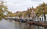 Nederland  Alkmaar -  Oktober 2018. Huizen aan de Oudegracht.    Foto Berlinda van Dam / Hollandse Hoogte