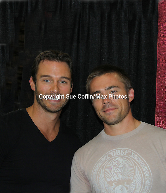 Days of Our Lives Eric Martsolf poses with One Live To Live John-Paul Lavoisier at the 8th Annual Connecticut Women's Expo presented by Comcast on September 11 & 12, 2010 at the Connecticut Expo Center, Hartford, Connecticut. (Photo by Sue Coflin/Max Photos)