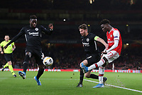 Bukayo Saka of Arsenal in action during Arsenal vs Eintracht Frankfurt, UEFA Europa League Football at the Emirates Stadium on 28th November 2019