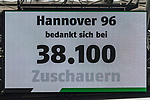 11.05.2019, HDI Arena, Hannover, GER, 1.FBL, Hannover 96 vs SC Freiburg<br /> <br /> DFL REGULATIONS PROHIBIT ANY USE OF PHOTOGRAPHS AS IMAGE SEQUENCES AND/OR QUASI-VIDEO.<br /> <br /> im Bild / picture shows<br /> Anzeigetafel / Zuschauerzahl, Feature, <br /> <br /> Foto © nordphoto / Ewert