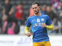 Preston North End's Alan Browne during the pre-match warm-up <br /> <br /> Photographer Kevin Barnes/CameraSport<br /> <br /> The EFL Sky Bet Championship - Swansea City v Preston North End - Saturday August 11th 2018 - Liberty Stadium - Swansea<br /> <br /> World Copyright &copy; 2018 CameraSport. All rights reserved. 43 Linden Ave. Countesthorpe. Leicester. England. LE8 5PG - Tel: +44 (0) 116 277 4147 - admin@camerasport.com - www.camerasport.com