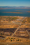 Aerial over Port Chicago Naval Weapons Magazine; site of the historic WWII explosion, California