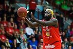 ****BETALBILD**** <br /> Uppsala 2015-04-24 Basket SM-Final 3 Uppsala Basket - S&ouml;dert&auml;lje Kings :  <br /> Uppsalas Brice Massamba i aktion under matchen mellan Uppsala Basket och S&ouml;dert&auml;lje Kings <br /> (Foto: Kenta J&ouml;nsson) Nyckelord:  Basket Basketligan SM SM-final Final Fyrishov Uppsala S&ouml;dert&auml;lje Kings SBBK portr&auml;tt portrait