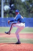 New York Mets pitcher David Cone (44) during spring training circa 1990 at Tradition Field in Port St. Lucie, Florida.  (MJA/Four Seam Images)