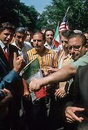 "Manhattan, New York City, NY - June 29th, 1970.                                                                       More than 150,000 attended an ""Italian-American Unity Day Rally"" held in Manhattan's Columbus Circle. Head of the Colombo crime family Joe Colombo Snr. (June 16, 1923 – May 22, 1978) and his son Joseph led the rally."