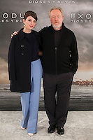Sir Ridley Scott and spanish actress Maria Valverde pose during the World Premiere of 'Exodus: Gods and Kings' in Madrid, Spain. december 04, 2014. (ALTERPHOTOS/Victor Blanco)