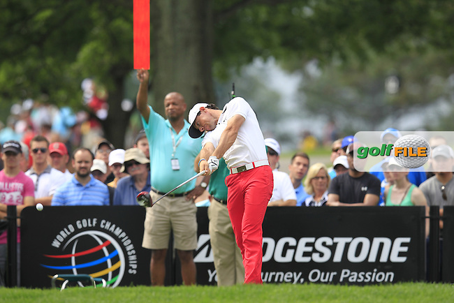 Rory MCILROY (NIR) tees off the 9th tee during Saturday's Round 3 of the WGC Bridgestone Invitational, held at the Firestone Country Club, Akron, Ohio.: Picture Eoin Clarke, www.golffile.ie: 2nd August 2014