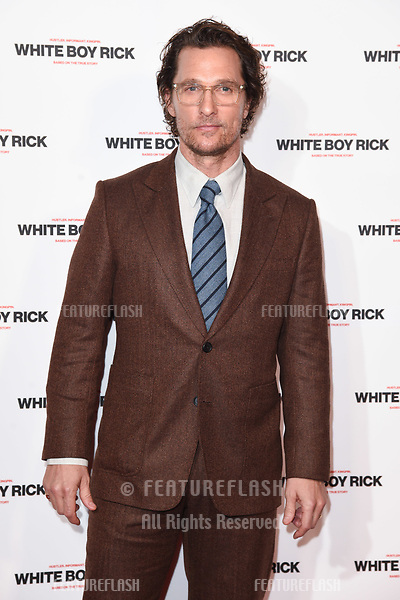 """LONDON, UK. November 27, 2018: Matthew McConaughey at the """"White Boy Rick"""" screening at the Picturehouse Central, London.<br /> Picture: Steve Vas/Featureflash"""
