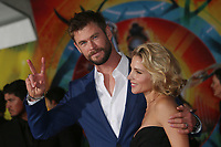 HOLLYWOOD, CA - OCTOBER 10: Chris Hemsworth and Elsa Pataky at the world premier of Marvel Studios&rsquo; Thor: Ragnarok  in Hollywood, California on October 10, 2017. <br /> CAP/MPIFS<br /> &copy;MPIFS/Capital Pictures