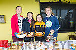 Kirby-Ann Ryan, Helen Mcnamara, Ciara Nix and Lara Flynn helping raise funds for Austin Stacks Ladies by hosting  cake sale on Sunday