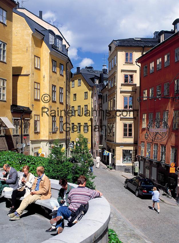 Sweden, Stockholm: Oesterlanggatan at Old Town (Gamla Stan)   Schweden, Stockholm: Oesterlanggatan in der Altstadt (Gamla Stan)