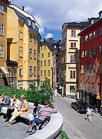 Sweden, Stockholm: Oesterlanggatan at Old Town (Gamla Stan) | Schweden, Stockholm: Oesterlanggatan in der Altstadt (Gamla Stan)