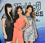 "Kozue Akimoto, Anne Nakamura, Mayuko Arisue, Aug 13, 2013 :Tokyo, Japan : (L-R)Japanese models Kozue Akimoto, Anne Nakamura and Mayuko Arisue attend the Japan premiere for the film ""Star Trek Into Darkness"" in Tokyo, Japan, on August 13, 2013."