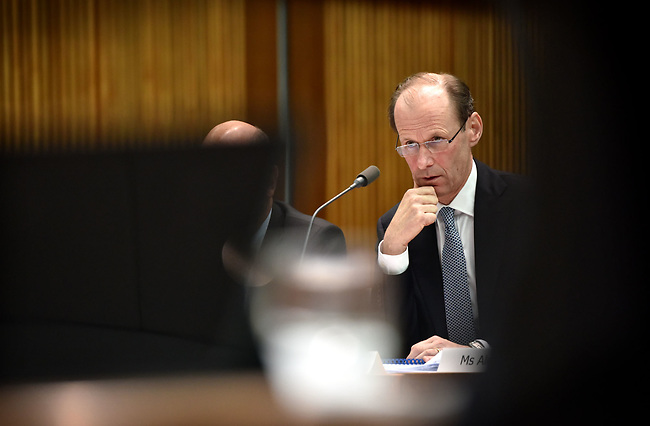 Australia and New Zealand Banking Group CEO Shayne Elliott appears before the House of Representatives Standing Committee on Economics at Parliament House in Canberra, Australia, on Tuesday, March 7, 2017.  Photographer: Mark Graham/Bloomberg