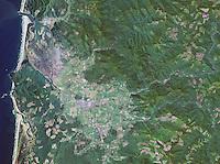 aerial photo map of Tillamook, Oregon