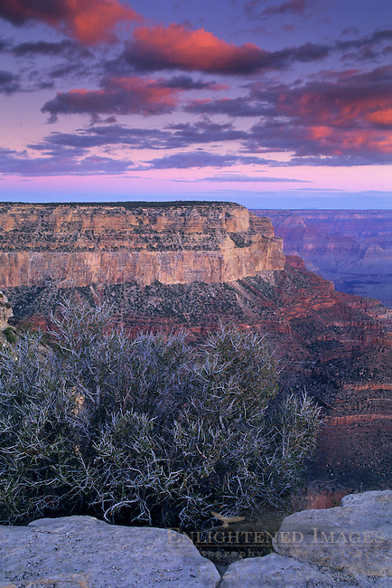 Dawn light over the Grand Canyon from Yavapai Point, South Rim, Grand Canyon National Park, Arizona
