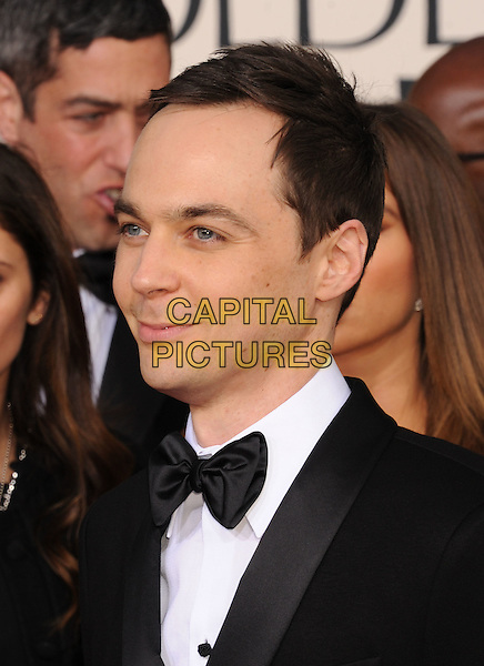 Jim Parsons.Arrivals at the 70th Annual Golden Globe Awards held at the Beverly Hilton Hotel, Hollywood, California, USA..January 13th, 2013.globes headshot portrait black tuxedo white shirt bow tie .CAP/GAG.©GAG/Capital Pictures