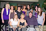 Staff of Seefin Data, Listowel pictured at their christmas party at Fitzgeralds restaurant, Listowel on Saturday night.  Front l-r Joanne Diggin, Betty O'Carroll, James O'Shea, Cindy Broderick.  Back l-r Fiona Flynn, Jennifer Boyle, Jamie O' Shea, Nancy O' Shea and Kristine O' Carroll...   Copyright Kerry's Eye 2008