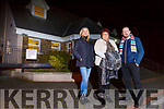 Outside the Tintean Theatre in Ballybunion on Monday night. <br /> L-r, Martina Carr, Joanne Kelly Walsh and Bryan Carr.