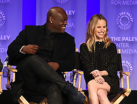 "HOLLYWOOD, CA - MARCH 17: Peter Macon and  Halston Sage at the PaleyFest 2018 - ""The Orville"" panel at the Dolby Theatre on March 17, 2018 in Hollywood, California. (Photo by Scott Kirkland/Fox/PictureGroup)"