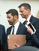 "FBI Deputy Assistant Director Peter Strzok, right, arrives with his attorney Aitan Goelman, left, prior to giving testimony during a joint hearing of the United States House Committee on the Judiciary and the US House Committee on Oversight and Government Reform on ""Oversight of FBI and DOJ Actions Surrounding the 2016 Election"" on Capitol Hill in Washington, DC on Thursday, July 12, 2018. <br /> Credit: Ron Sachs / CNPP<br /> (RESTRICTION: NO New York or New Jersey Newspapers or newspapers within a 75 mile radius of New York City)"
