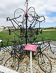 VMI Vincentian Heritage Tour: Normandy France side trip - A memorial to the 3rd Canadian Infantry Division who landed with their bicycles at Juno Beach in Normandy, France.(DePaul University/Jamie Moncrief)