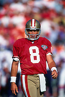 SAN FRANCISCO, CA - Quarterback Steve Young of the San Francisco 49ers in action during a game at Candlestick Park in San Francisco, California in 1994. Photo by Brad Mangin.