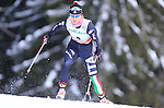 Athlete competes during the FIS Ski World Cup 1.3 Km Sprint Free qualification, on February 2, 2014 in Dobbiaco, Toblach.<br />