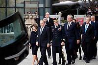 Former President George W. Bush, Laura Bush and other family members including former Florida Gov. Jeb Bush and Neil Bush, right, arrive for a State Funeral for former President George H.W. Bush at the National Cathedral, Wednesday, Dec. 5, 2018, in Washington. <br /> CAP/MPI/RS<br /> &copy;RS/MPI/Capital Pictures