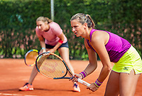 The Hague, Netherlands, 09 June, 2018, Tennis, Play-Offs Competition, Womans doubles: Danielle Harmsen (NED) (L) and Quirine Lemoine (NED)<br /> Photo: Henk Koster/tennisimages.com