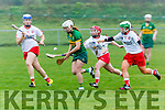 Kerry's Patrice Diggin get away from Tyrone at the Littlewoods Ireland Camogie League Division 3 Kerry V Tyrone at John Mitchels GAA Club on Sunday