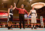 February 3, 2012:   Nevada boxerJarred Santos won his bout by decision over Air Force Academy boxer William Peterson in the 140 pound weight class at the Eldorado Convention Center on Friday night in Reno, Nevada.  This was Santos' first collegiate bout.