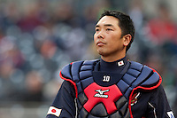 19 March 2009: #10 Shinnosuke Abe of Japan is seen prior to the 2009 World Baseball Classic Pool 1 game 6 at Petco Park in San Diego, California, USA. Japan wins 6-2 over Korea.