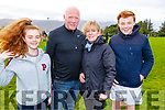 Shauna and Johnny Clifford, Imelda McGarry (Ballymac) and Darragh Clifford at the Siobhan Cotter Memorial underage Blitz in Churchill on Sunday.