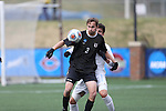 SALEM, VA - DECEMBER 3:Micah Beard (3) of Calvin College shields the ball during theDivision III Men's Soccer Championship held at Kerr Stadium on December 3, 2016 in Salem, Virginia. Tufts defeated Calvin 1-0 for the national title. (Photo by Kelsey Grant/NCAA Photos)