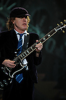 Angus Young of Australian rock band AC/DC performs during a concert on their Black Ice tour, Friday, Jan. 9, 2009, at the Rogers Centre in Toronto. (Arthur Mola/pressphotointl.com)