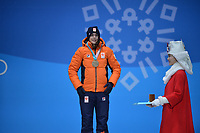 OLYMPIC GAMES: PYEONGCHANG: 13-02-2018, Medals Plaza, Victories Ceremony, Podium 1500m Ladies Long Track Speed Skating, , Marrit Leenstra (NED), ©photo Martin de Jong