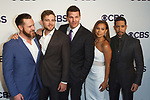 Left to right A.J. Buckley, Max Thieriot, David Boreanaz, Toni Trucks and Neil Brown Jr. arrive at the CBS Upfront at The Plaza Hotel in New York City on May 17, 2017.