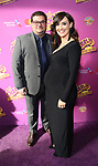 Bobby Moynihan, Brynn O'Malley attends the Broadway Opening Performance of 'Charlie and the Chocolate Factory' at the Lunt-Fontanne Theatre on April 23, 2017 in New York City.
