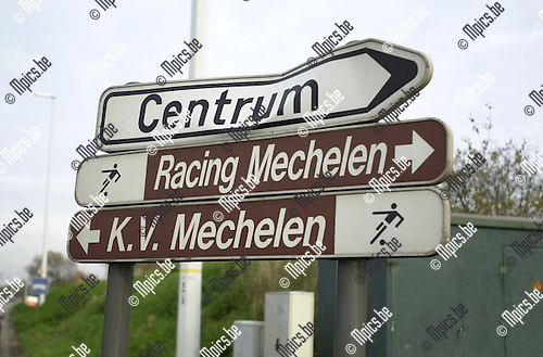 Verkeersbord, Racing en KV Mechelen.