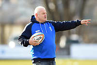 Bedford Blues Director of Rugby Mike Rayer. Greene King IPA Championship match, between Rotherham Titans and Bedford Blues on January 17, 2018 at Clifton Lane in Rotherham, England. Photo by: Patrick Khachfe / Onside Images