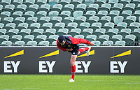 Jonathan Sexton warms up during the 2017 DHL Lions Series rugby union  British & Irish Lions captain's run at QBE Stadium in Albany New Zealand on Tuesday, 6 June 2017. Photo: Dave Lintott / lintottphoto.co.nz