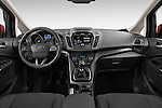 Stock photo of straight dashboard view of 2015 Ford C Max Titanium 5 Door Mini Mpv Dashboard