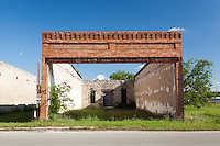 Ruins of old building in Tolar, TX