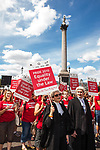 "© Joel Goodman - 07973 332324 - all rights reserved . 03/07/2010 . London , UK . People carry placards reading "" Equality under the law "" as the march passes through Trafalgar Square . Annual London Pride march and demonstration through the centre of London . Photo credit : Joel Goodman"