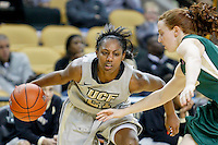 January 13, 2011: UAB guard Amanda Peterson (2) defends Central Florida guard Chelsie Wiley (21) as she drives the baseline during second half Conference USA NCAA basketball game action between the UAB Blazers and the Central Florida Knights, Central Florida defeated UAB 65-55 at the UCF Arena Orlando, Fl.