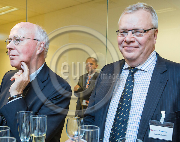 BRUSSELS - BELGIUM - 28 November 2016 Inauguration reception of the Nordic Energy Office. -- Pertti Salminen, Jan Store  -- PHOTO: Juha ROININEN / EUP-IMAGES